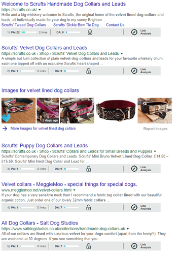 SERPs for Long Tail Keywords