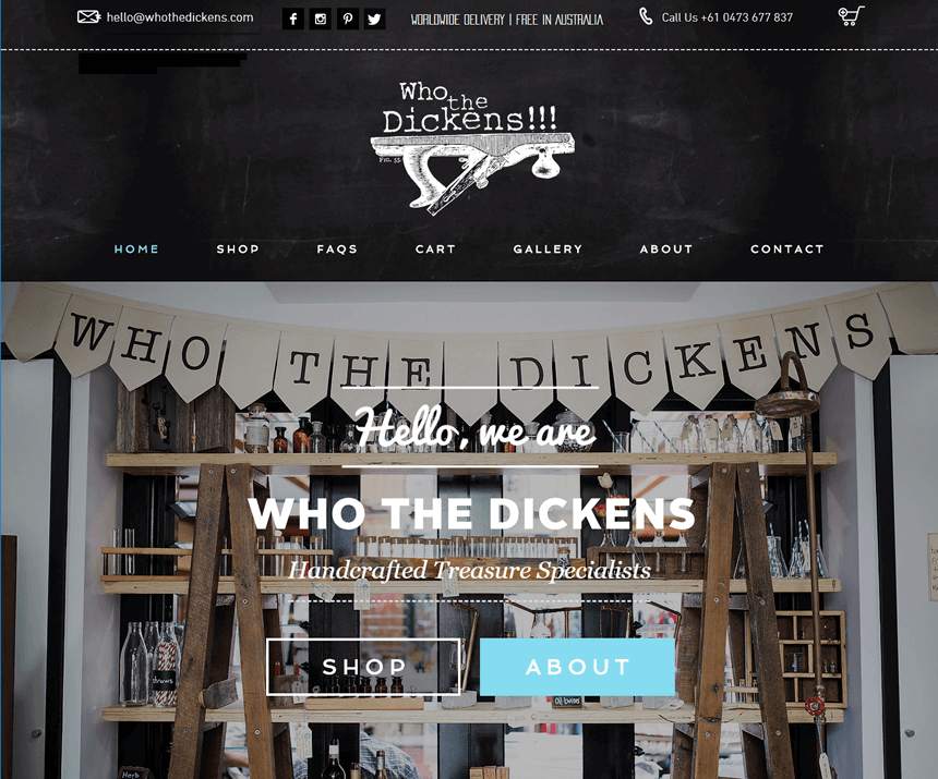 Who the Dickens Website
