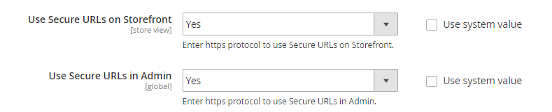Use SSL on your backend